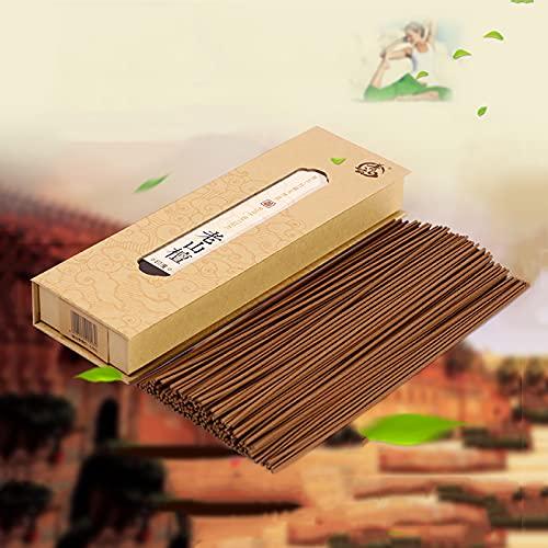GAOXIAOMEI Varitas de Incienso de sándalo Natural amerindio 100% Natural sumergido a Mano sin carbón el Mejor Aroma 8.5 Pulgadas 45 Minutos 180 Varillas para meditación Vibraciones positivas