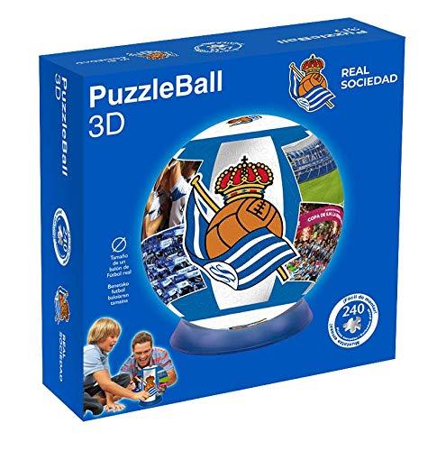 ELEVEN FORCE Puzzleball Real Sociedad (Tamaño Balón) 8,4 (10612), Multicolor (1)