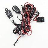 ZQALOVE ZHANGQINGAN 1pc Universale Hareness Kit 1 for 2 LED Light TV Via Cavo 40A 12V 24V Interruttore relè Auto di azionamento del Lavoro di Nebbia della Luce Cablaggio Harness