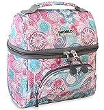 J World Corey Kids Lunch Bag. Insulated Lunch-Box for Women, Blue Raspberry