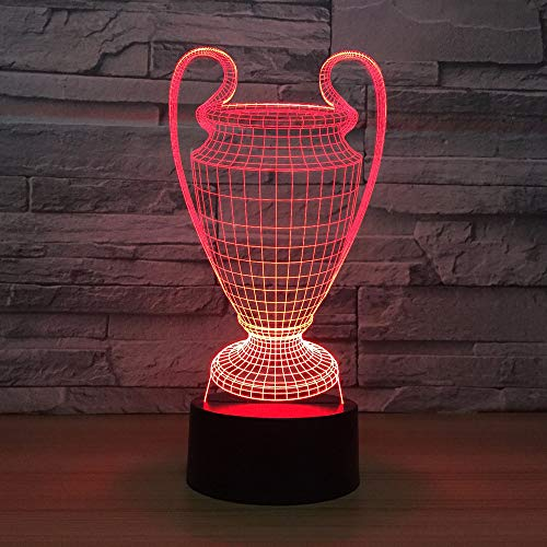 Luces De Noche Led Lámpara 3D De Dibujos Animados Trofeo Lámpara 3D 7 Colores Que Cambian Luz De Noche Led Botón Táctil Usb Dormitorio Sueño Luminaria Amigos Regalo Envío De La Gota