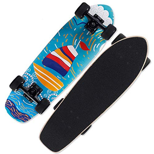 NMDD Penny Skate Board 27 Pulgadas Beginner Mini Cruiser Retro Skateboard, Adolescente,...
