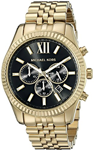 Michael Kors Gold-Tone Watch Men's Lexington MK8286