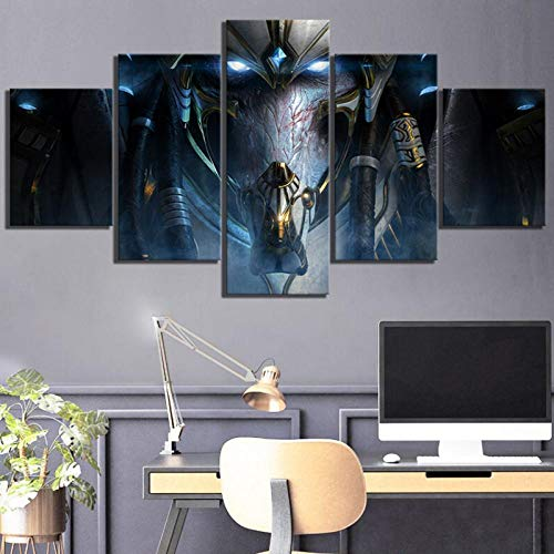yiming 5 Piece HD Fantasy Art Game Poster Paintings Starcraft 2 Legacy of The Void Video Games Poster Canvas Paintings Wall Art Decor 40x60 40x80 40x100cm