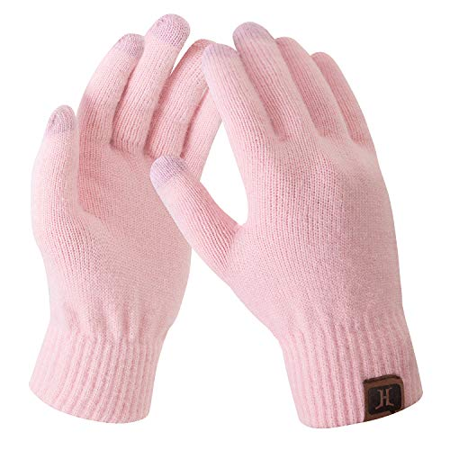 Bequemer Laden Damen Winter Warme Touchscreen Handschuhe Rosa