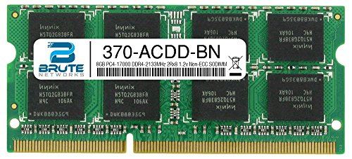 Brute Networks 370-ACDD-BN - 8GB PC4-17000 DDR4-2133MHz 2Rx8 1.2v Non-ECC SODIMM (Equivalent to OEM PN # 370-ACDD)