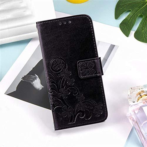 ZXMDP Adecuado para iPhone 5 5S SE 5C SE 6C 7S 7S 7S 8 Plus SE2 Portatarjetas Tipo Billetera Rosa, 2Negro, para iPhone 5
