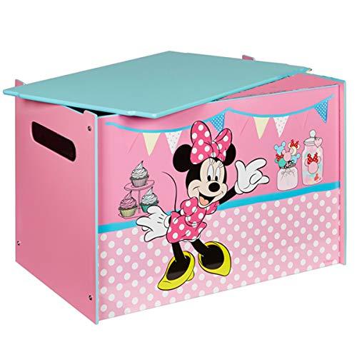 Unbekannt Disney Minnie Mouse Toy Box MDF Holz Deckel Spielzeugkiste Aufbewahrungsbox Kinder