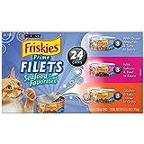 Purina Friskies Gravy Wet Cat Food Variety Pack, Seafood Prime Filets Favorites - (24) 5.5 oz. Cans