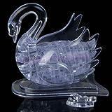 ruiruiNIE 3D Crystal Puzzle Puzzle Modelo DIY Swan IQ Toy Muebles Gadget Regalo Souptoy