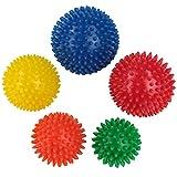 BB Sport Bolas de Masaje Set de 5 en Diferentes tamaños y durezas Pelotas de Masaje con Pinchos