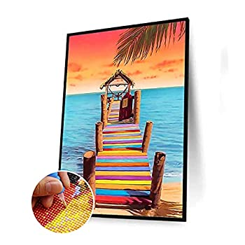 DIY 5D Diamond Painting Kits for Adults and Children Rainbow Bridge Full Drill Diamond Embroidery Art Craft for Home Wall Decor