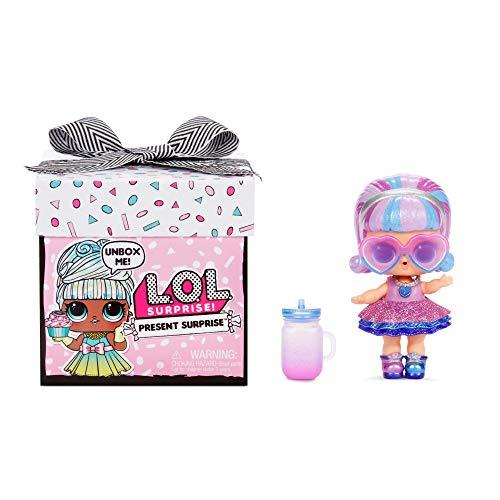 LOL Surprise Present Surprise - Muñeca Tema Mes del Año con 8 Sorpresas, Divertido Cambio de Color y Accesorios a la Moda - Present Surprise Serie 1, Muñecas Coleccionables para Niñas de 3+ Años