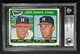Phil Niekro (d.2020) 1965 Topps #461 ROOKIE STARS Autographed Card Topps BAS. rookie card picture