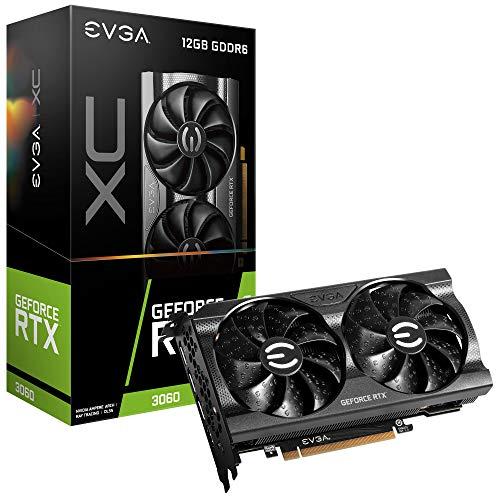 EVGA GeForce RTX 3060 XC Gaming, 12G-P5-3657-KR, 12 GB GDDR6, Doble Ventilador, Placa Trasera metálica
