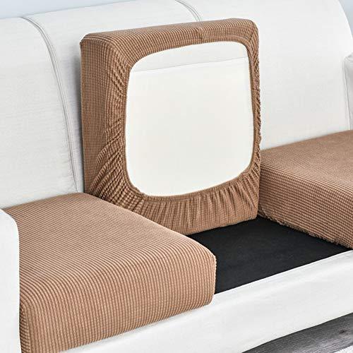 CClz Sofá Cushion Slipcover con Fondo Elástico,Lavable Felpa Funda De Asiento De Sofá,No-resbalón Resistente Cubierta del Asiento del Sofá Protector DE Muebles