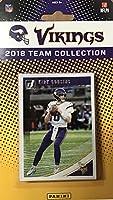 Minnesota Vikings 2018 Donruss Factory Sealed NFL Football Complete Mint 12 Card Team Set with Kirk Cousins, Adam Thielen, Cris Carter, 3 Rookie Cards plus
