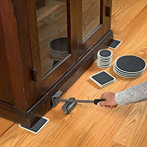 Evelots Furniture Lifter with 16 Mover Pad Sliders Carpet Smooth Floor