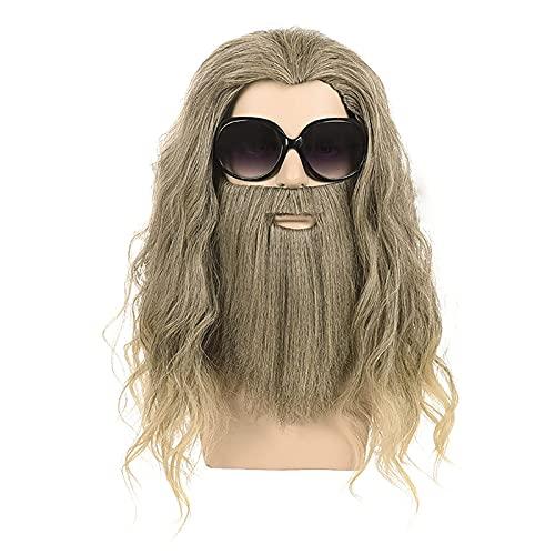 RVTYR Peluca de Thor y Barba 20 Pulgadas   40cm Peluca de Traje de Cosplay Peluca Pelo Natural