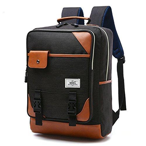R206 15.6inch Computer Bag Casual Unisex Waterproof Oxford School Backpack Women/ Men School Backpack Rucksack (black)