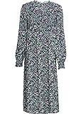 bonprix Angesagtes Midi-Kleid mit coolem Allover-Muster dunkelblau geblümt 40 für Damen