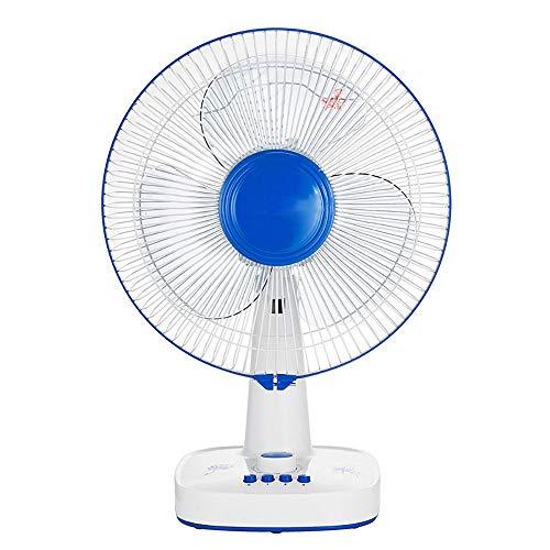 Qi Peng Bodenventilator - elektrischer Ventilator Desktop-Heimschreibtisch, wenn Studentenwohnheimlüfter den Kopflüfter schütteln / 220W-60V (Farbe : Blau)