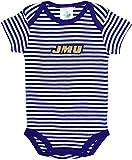 James Madison University JMU Dukes Baby Striped Bodysuit Purple/White