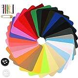 WOWOSS 29Pcs Parches de Mezclilla de Color para Reparación de Jean y Bricolaje, Parches Ropa...
