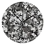 ALUONI Round Wall Clock Camo, Camouflage Concept Concealment Artifice Hiding Force Uniform Pattern 10 inch Morden Wall Clocks Silent Round Decorative Clock No06603