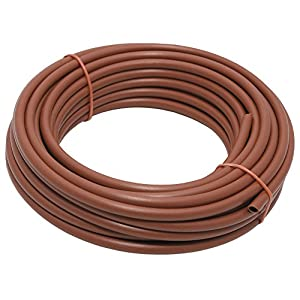Aqua Control C4017 – Rollo de 50 metros de micro tubo de 4 mm para goteo. Color marrón.