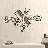 Friseursalon Friseur Aufkleber Clipper Friseursalon Aufkleber Neutral Haarschnitt Poster Vinyl Wanddekoration Wi 37 * 58Cm