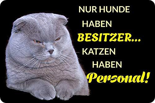 Metalen bord 30 x 20 cm honden hebben eigenaar katten persoonlijk spreuk metalen bord