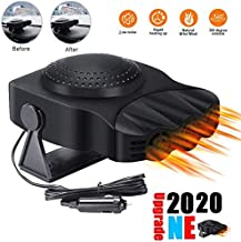 Portable Car Heater, 12V Car Fan Defroster Automobile Heater Warmer and Defroster 2 in 1 Heating Cooling Function Windshield Demister Defroster (Black)
