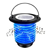VENSMILE Solar Powered Bug Zapper Mosquito Trap Waterproof Fly Insects Killer with Night Light for...