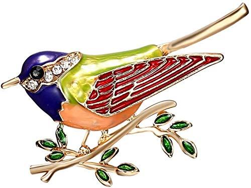 Diamantes de imitación de esmalte Oriole pájaro ramificación broches de los pernos for mujeres de los hombres trajes de etiqueta de la broche de regalo banquetes GIAOYAO (Color : Azul)