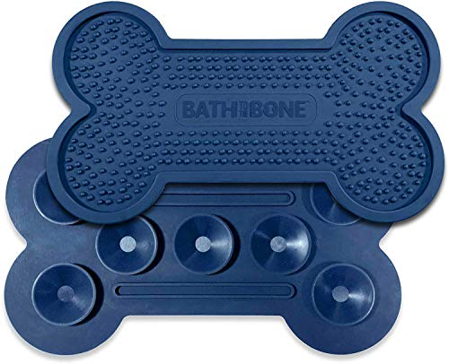 Dog Bath Distraction - Bath Distraction For Dogs | Bone Shaped Dog Lick Pad | Dog Distraction Lick Pad For Easy, No-Stress Dog Bathing Time | Bath To The Bone Dog Treat Pad For Dog Grooming