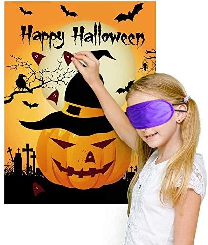 Halloween Party Lieferungen BESTZY 24pcs Halloween Kinder Party Aufkleber Spiel Games Ansteckspiele Supplies Witziges Spiel für den Halloween Party(Kürbis)