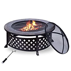 OUTSUNNY OUTDOOR GARDEN METAL FIREPIT
