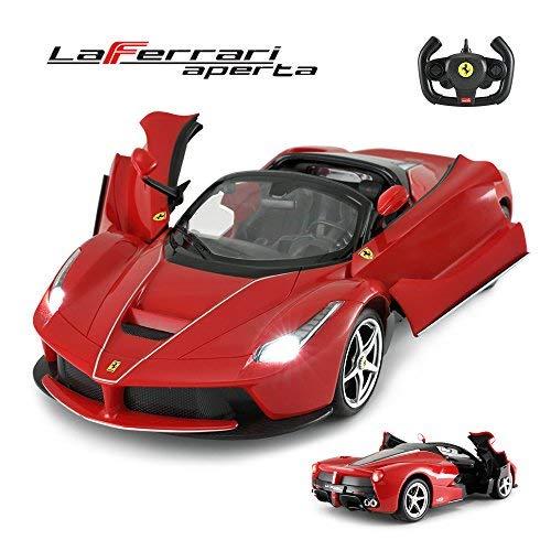 RASTAR Ferrari Drifting RC Car, 1/14 Ferrari LaFerrari Aperta Remote Control Car - Convertible Top, Open Doors, Working Lights