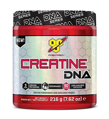 BSN DNA Creatine Monohydrate Powder, Sports Nutrition, Unflavoured, 216 g, 63 Servings