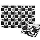 JASMODER Cute Funny French Bulldog Checked Black White Fleece Blanket Soft Microfiber Lightweight Cozy Warm Throw Blanket for Couch Bedroom Living Room