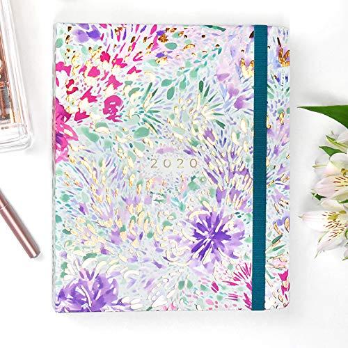 Planner Anual Glitter - Semana Vista Anillas A5 - Anillas Ocultas- Takenote Agendas- Agenda Bilingüe Español- Ingles
