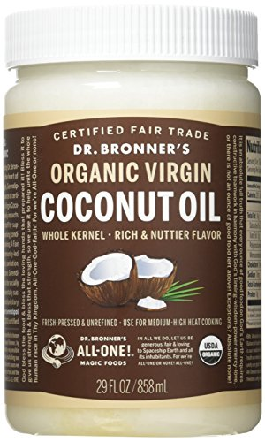 Dr. Bronner's - Fresh-Pressed Virgin Coconut Oil Whole Kernel Unrefined - 29 oz. Plastic Jar