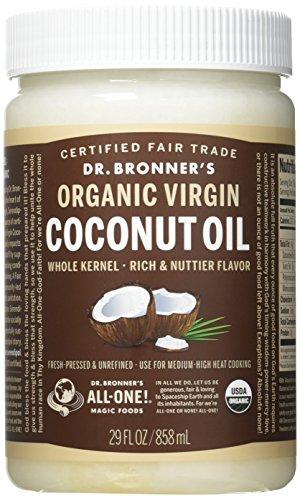 Dr. Bronner's - Fresh-Pressed Virgin Coconut Oil Whole Kernel Unrefined - 29 oz. Plastic Jar