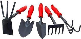 HUIJINCHAOSHI Gardening Tools, Shovel Five-tooth Palladium Three-leaf Palladium Dual-use Hoe Gardening Tools, 5 Sets Of Ho...