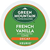 Green Mountain Coffee Roasters French Vanilla Decaf, Single-Serve Keurig K-Cup Pods, Flavored Light Roast Coffee, 72 Count