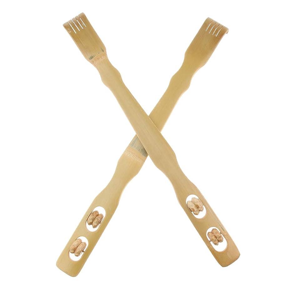 義務厳密に情熱的D DOLITY 2個 バックスクラッチャー 孫の手 木製 リラックス プレゼント