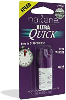 Nailene Ultra Quick Nail Glue 0.10 oz (Pack of 4)