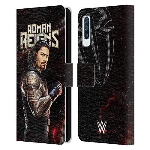 Head Case Designs Offizielle WWE Roman Reigns Superstars Leder Brieftaschen Huelle kompatibel mit Samsung Galaxy A50s (2019)