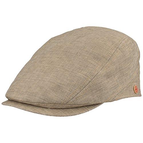 Mayser Herren Schiebermütze   Flatcap   Schirmmütze – mit UV-Schutz 80 - Faltbar aus Baumwolle & Leinen – Hautfreundlich & Bequem